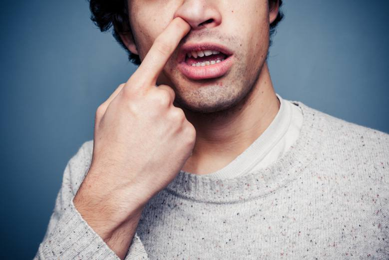 Nose picking can worsen or cause nose sores